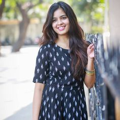 Cute Girl Pic, Cute Girls, Actress Priya, Black Costume, India Beauty, Girlfriends, Beautiful Women, Short Sleeve Dresses, Actresses