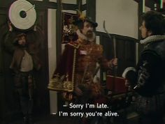 Black Adder is sassy as fuck British Sitcoms, British Memes, British Comedy, Blackadder Quotes, Johnny English, Laugh Track, Show Must Go On, Funny Scenes, Old Shows