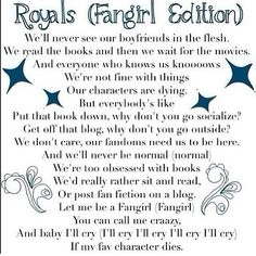 Royals fangirl parody