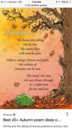 Autumn Art Ideas For Kids Preschool Children 34 Ideas For 2019 Fall Preschool, Preschool Songs, Autumn Art Ideas For Kids, Kids Poems, Nature Poems For Kids, Autumn Crafts, Circle Time, Autumn Activities, Autumn Theme