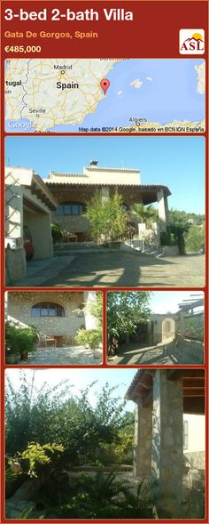 3-bed 2-bath Villa in Gata De Gorgos, Spain ►€485,000 #PropertyForSaleInSpain