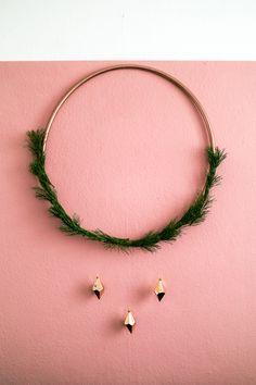 Reifen Deko diy hula hoop reifen deko für advent und weihnachten advent