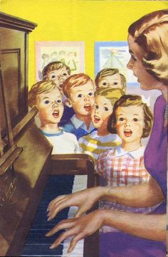 Vintage Ladybird Books 'Going to School' An image from 'Going to School' (Ladybird books series 563) by M E Gagg; illustrated by Harry Wingfield; First Published 1959...i still have all of my ladybird books and read them to my little boys!