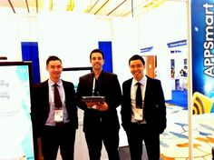 From the left to the right, Mr. Dzung Ho, Mr. Richchard Jones and Mr. Andy Pham, We hoped CommunicAsia the success! — in Singapore.
