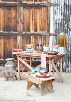 Summer BBQ on the farm party by Kara Allen   Kara's Party Ideas for Kohl's