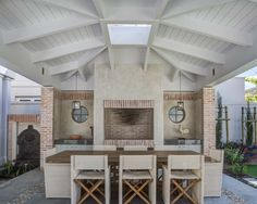 Voelkilp - beach style - patio - other metro - by Wynand Wilsenach Architects House, Outdoor Patio Furniture, Home, New Homes, Farmhouse Fireplace, Residential Design, Townhouse Garden, Outdoor Living Deck, Built In Braai