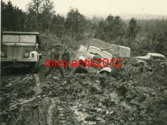 Foto, Wehrmacht, LKW auf schlimmer Schlammstrasse bei Wjasma, Russland in Sammeln & Seltenes, Militaria, 1918-1945   eBay