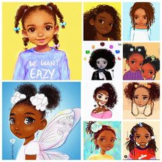 """For more pins """"Illustrators Spotlight: Olivia .Olivia is a former Disney intern who has made her own path with her signature doe eyed illustrations . Black Love Art, Black Girl Art, Art Girl, African American Art, African Art, Drawings Of Black Girls, Natural Hair Art, Book Art, Black Art Pictures"""