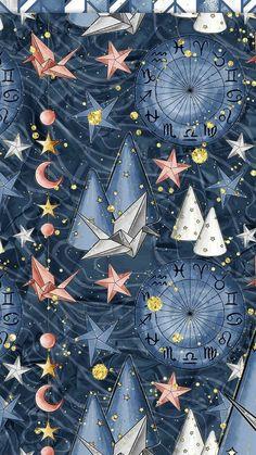 Ideas For Origami Pattern Illustration Wallpaper Design For Bedroom, Wallpaper Decor, Home Wallpaper, Screen Wallpaper, Designer Wallpaper, Design Bedroom, Wallpaper Ideas, Bedroom Decor, Bedroom Modern