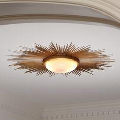 Global Views Sunburst Light Fixture-Gold