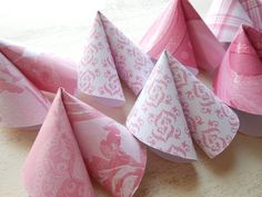 Fortune Cookie Bridal Shower Game in Pink Set of 10