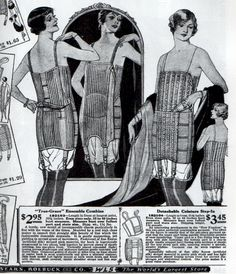 Corsets from Sears catalog, 1925-26. From Everyday Fashions of the 1920s by Stella Blum. Please do not copy this image.