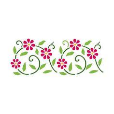 Resultado de imagen para stencil plantillas flores