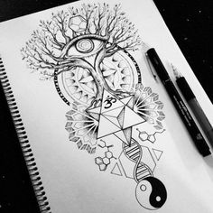 ideas for tree tattoo designs sketches style Life Tattoos, Body Art Tattoos, Sleeve Tattoos, Mirror Tattoos, Full Arm Tattoos, Buddha Tattoos, Buddha Tattoo Design, Art Drawings Sketches, Tattoo Drawings
