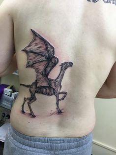 Thestral tattoo Harry Potter Tattoos, Literary Tattoos, Hp Tattoo, Body Art Tattoos, Thestral Tattoo, Future Tattoos, Skin Art, Badass, Tatting