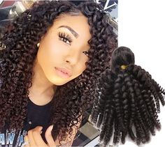 """4Bundles 10""""-16"""" 100% Brazilian Real Human Hair Extension Black Kinky Curly Weft #WIGISS #HairExtension"""