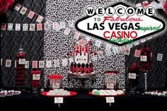 Vegas Casino Theme Party - I want to do this one year for my hubby's birthday. he loves blackjack and poker.