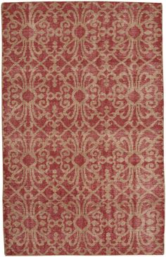 Classic Hand-Knotted Crimson Area Rug