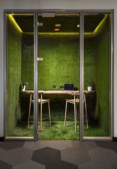 A Modern Tech Office in Latvia Featuring Bold Details and Bright Colors – Design Milk – Office Design 2020 Office Space Design, Modern Office Design, Office Interior Design, Office Designs, Office Ideas, Office Spaces, Small Office, Contemporary Office, Office Workspace