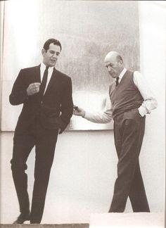 Ricardo Legorreta y Luis Barragán, en la casa de L.B.