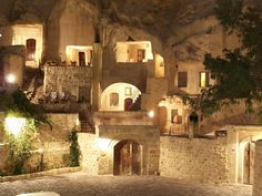Cappadocia Cave Hotel - Stay in cave rooms dating back to the 5th & 6th century in this luxury hotel in Turkey.