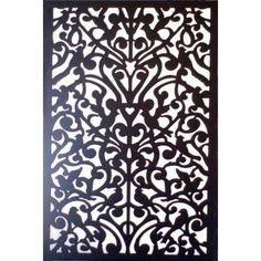 Acurio Latticeworks 1/4 in. x 32 in. x 4 ft. Black Ginger Dove Vinyl Decor Panel-3248PVCBK-GNDV at The Home Depot