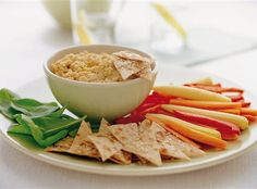 Healthy Snacks: Dips and Vegetables