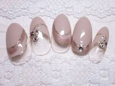 purple Diagonal Nails, Purple Nails, Beautiful Nail Art, Nail Colors, Nail Art Designs, Nailart, Dressing, Pearl Earrings, Japanese