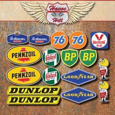 Race+Sticker+Retro+Set+Rothmans+76+Castrol+Dunlop+Penzoil+BP+Esso+Car+Motorcycle