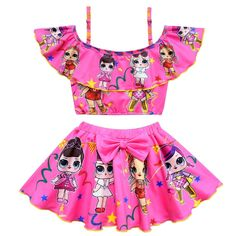 Baby Girls Lol Dolls Girls Swim Wear Swimsuit 2018 Lovely Dress Party Bikini Swiming Beach Wear Bathing Suits for Girls Clothing Baby Bikini, Baby Swimwear, Baby Dolls For Kids, Baby Girls, Baby Baby, Dresses Kids Girl, Kids Outfits, Girls Bathing Suits, Girls Swimming