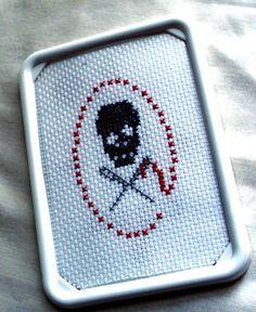 Stitch Bitch Framed Cross Stitch Sampler by SnarkyLittleStitcher, $10.00