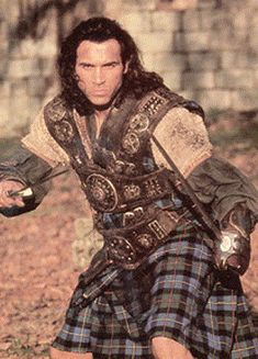 """Highlander : The Series,"" Duncan MacLeod (Adrian Paul). Duncan Macleod, Clan Macleod, Adrian Paul, Celtic Warriors, Men In Kilts, Highlanders, Raining Men, Gorgeous Men, Favorite Tv Shows"