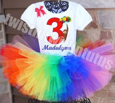 Curious George Birthday Tutu Outfit | Curious George Birthday Party Ideas | Curious George First Birthday | Birthday Party Ideas for Kids | Twistin Twirlin Tutus #curiousgeorgebirthday