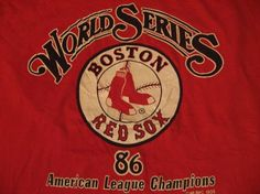 Vintage Boston Red Sox American League Champs 1986 T-Shirt L