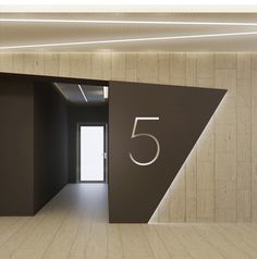 Elevator Lobby Numbering and use of Different Material