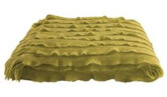 Kas Ripple Throw Chartreuse - FREE SHIPPING Australia-wide https://design-a-bedroom.com/