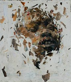 """Benon Lutaaya, Black Contemporary Artists, African Artists """"I call God, and the Owl answers. Collages, Collage Artists, Broken Dreams, Ap Studio Art, South African Artists, Portrait Art, Portraits, Portrait Paintings, Abstract Paintings"""