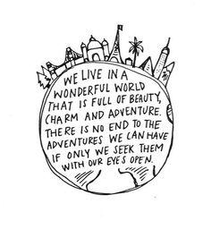 We live in a wonderful world....