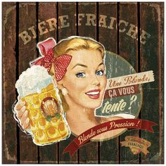 Bière fraîche Posters by Bruno Pozzo at AllPosters.com