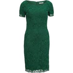 Gina Bacconi Embroidered Oriental Floral Dress , Dark Green ($170) ❤ liked on Polyvore featuring dresses, dark green, lace sleeve dress, lace dress, green maxi dress, long-sleeve midi dresses and long-sleeve mini dress