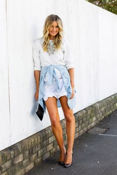 Tie Your Shirt Around Your Waist: How to Wear the Trend | StyleCaster