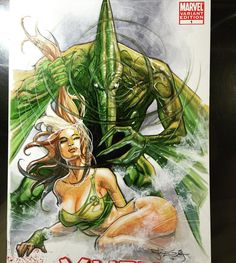 Rogue and Sauron by Stephen Segovia #eccc #sauron #rouge #marvel #copic #sketch