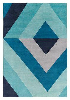 Sybil Diamond Blue por Jonathan Adler - The Rug Company