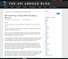 "Remembering to ""study"" while studying abroad - the API Abroad Blog"