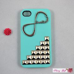 infinity sign and stud iPhone case for girls
