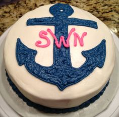 An anchor cake a home baker could decorate!