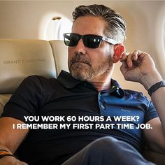 I haven't worked a 60 hour week since I committed to being successful.  I remember 60 hour weeks when I was part time worker and full time clown.  #work #moneymaker #GMB #money #succeed #money #getyours #boss #badass #bebold #entrepreneur #baller #succeed #money #GrantCardone #great #succeed