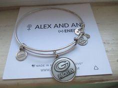 Alex And Ani Green Bay Packers  Russian Silver bracelet #alexani