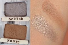 Selfish and Sultry Swatches from The Balm - Nude'tude