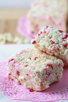 White Chocolate Valentine's Krispie Treats